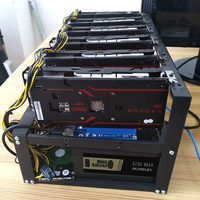 sever open Air rack Ethereum Mining Case Alloy Frame miner Rig 4u for 6 GPU ETH BTC ZEC Computer 6 graphics card Chassis