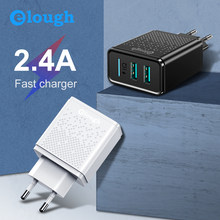 Elough Usb Oplader Voor Xiaomi Charger Eu Usb Plug Wall Dual Chargeur Usb Adapter Voor Iphone Samsung Tablet Micro Usb Charger(China)