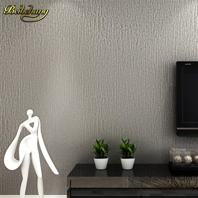 beibehang Simple non-woven wallpaper imitation diatom mud mud stripes bedroom living room TV background wall solid color modern simple imitation diatom mud