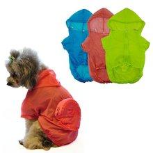 Pet Dog Jacket Clothing Puppy Hoodies Jacket Raincoat Thin Waterproof Jumpsuit Clothes