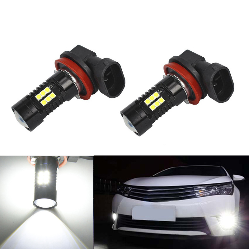 2X Super White <font><b>H8</b></font> H11 <font><b>CREE</b></font> Chip 3030 <font><b>LED</b></font> Fog Light Driving Bulbs For Mitsubishi Lancer 2010-2014 Mitsubishi Asx image