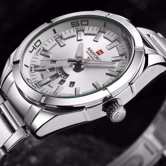 NAVIFORCE Известный Военный Часы Мужские Люксовый Бренд Часы Моды Водонепроницаемый Relogio Masculino 2016 Кварцевые Наручные Часы LX55