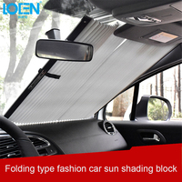 Car Window Sunshade Retractable Foldable Windshield Sunshade Cover Shield Curtain Auto Sun Shade Block Anti UV