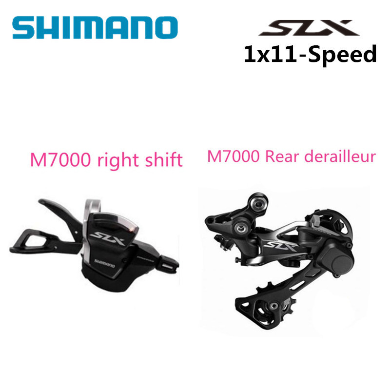 цена SHIMANO SLX M7000 11 Speed 2PCS MTB bicycle bike M7000 right Trigger Shifter + M7000 Rear derailleur GS