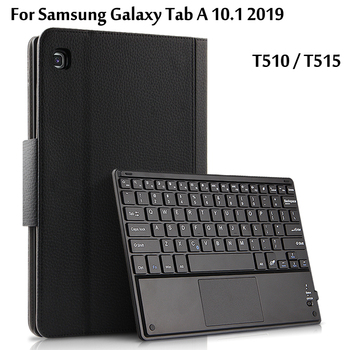 цена на Wireless Bluetooth Keyboard Case For Samsung Galaxy Tab A 10.1 2019 SM-T510 T510 T515 Tablet Case Leather Stand Funda Cover