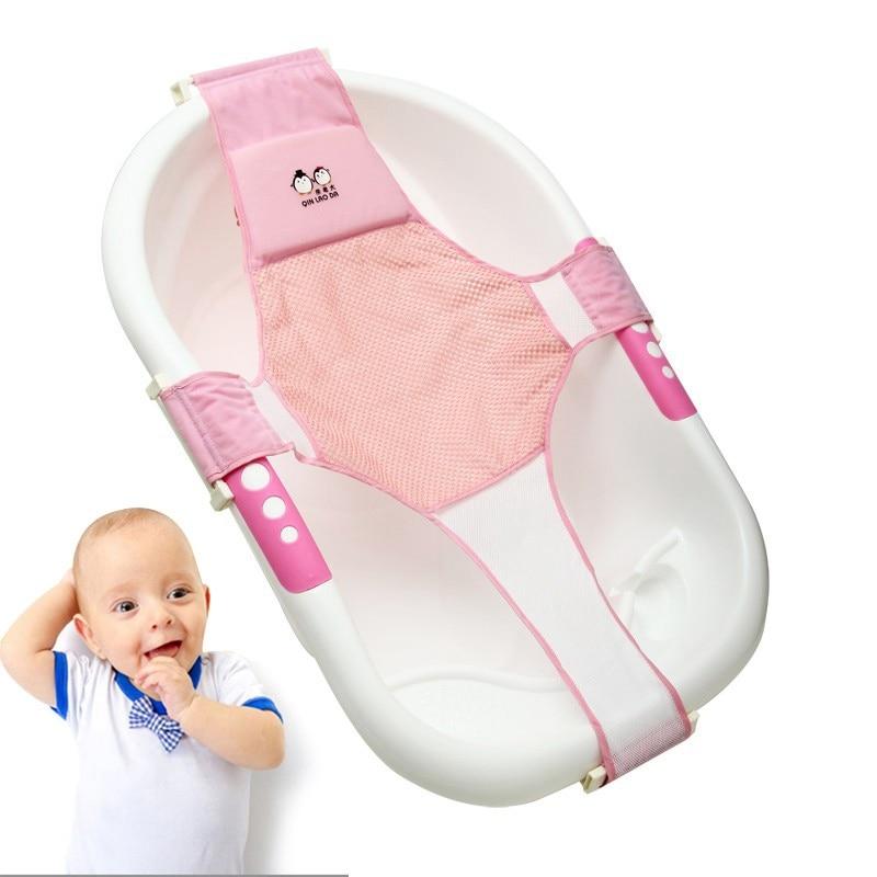 Baby Bathing Mat Newborn Baby Foldable Baby Bath Tub Pad Chair Shelf Newborn Bathtub Seat Infant Support Cushion Bath Mat