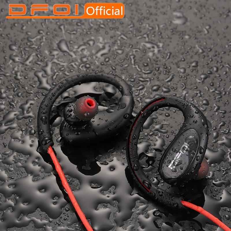 DFOI Drahtlose kopfhörer Bluetooth Kopfhörer Wasserdicht IPX5 IPX7 Headset Sport bluetooth Kopfhörer Mit Mic Kopfhörer für telefon