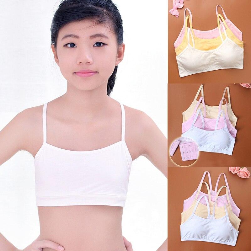 Cotton Children Bra Young Teenagers Girl student Confortable thin Underwear Summ