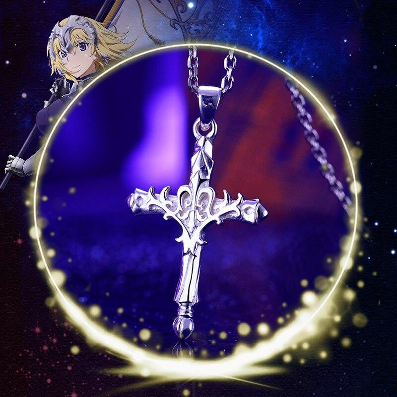 Судьба апокрифа цепочки и ожерелья 925 серебряные ювелирные изделия религиозные кулон крест аниме косплэй Жанна д 'Арк/Alter Рисунок Модель под