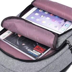 Image 2 - 15.6 인치 안티 절도 노트북 가방 USB 충전 남성 캔버스 배낭 여행 학교 가방 남자 배낭 틴 에이저 SchoolBag Mochila