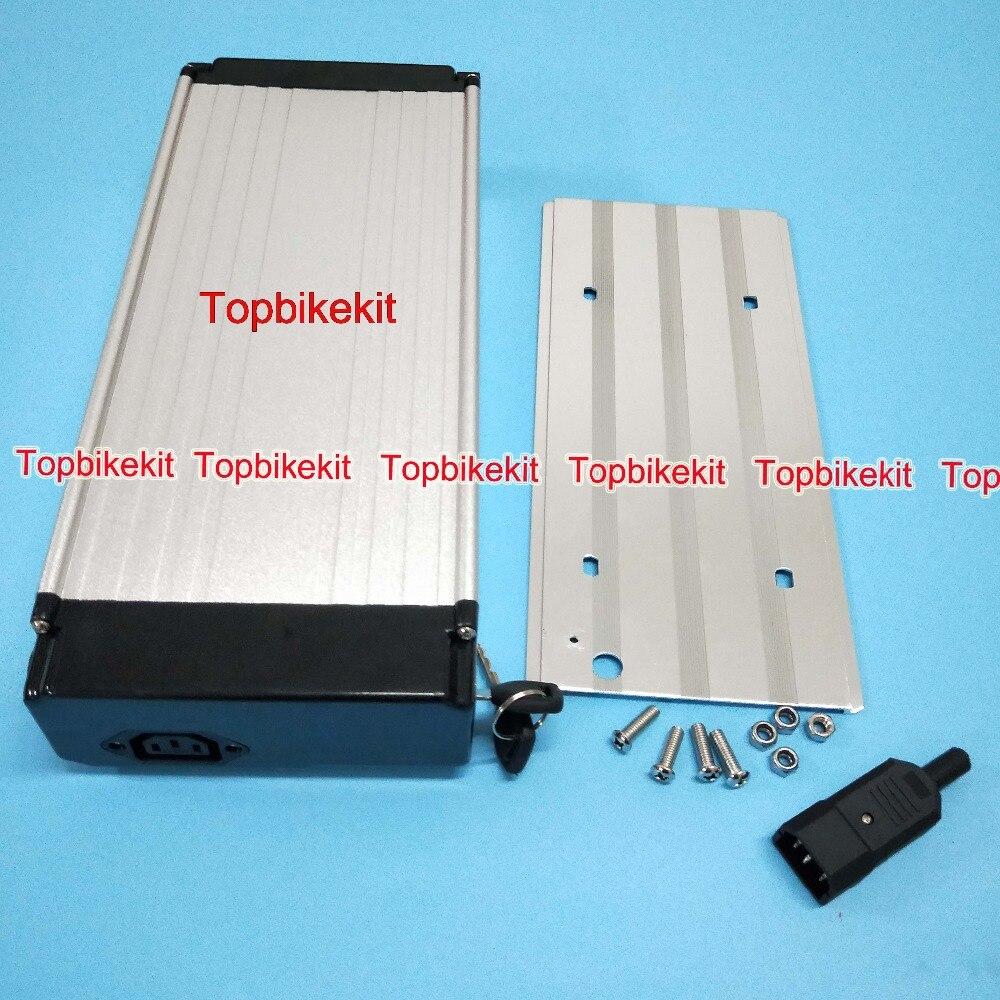 DHL Ebike Battery case Aluminium Rear Rack Case 36V for ebike battery 18650 cells Battery Box