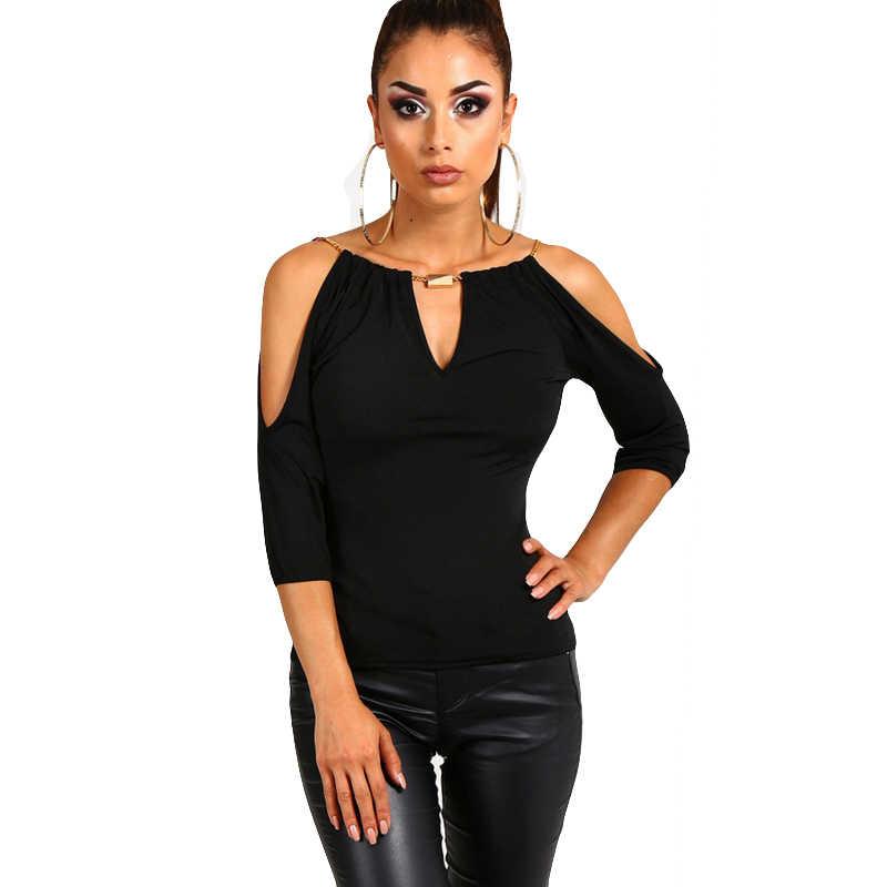 Сексуальная Блузка с открытыми плечами для женщин с коротким рукавом женские топы и блузки лето 2019 Черная Женская рубашка Blusas Roupa Feminina
