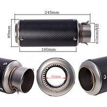 Universal Laser standard exhaust pipe Sports car sound exhaust pipe for Kawasaki Z1000 R6 ZX6R Suzuki
