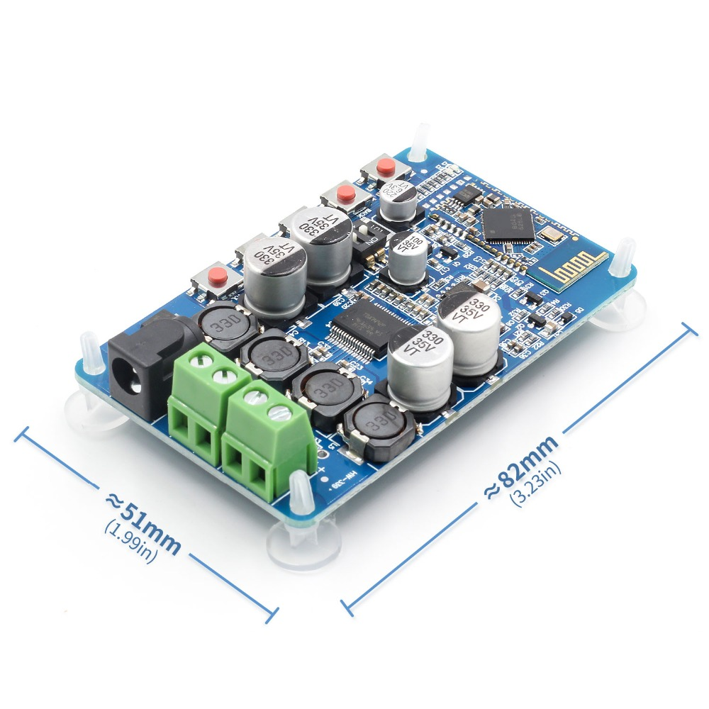 TDA7492P Bluetooth 4 2 CSR8635 Bluetooth Receiver Amplifier Audio Board  2x25W for 4/6/8/16 Ohm Speakers Module Parts Component