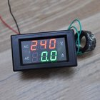 Ammeter Dual LED Digital Amp Volt Meter Gauge Voltage Meters AC 500V 50A Digital Voltmeter