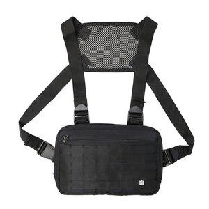 Image 2 - Mannen borst rig hip hop streetwear borst zak Vest Voor Mannen schoudertas Militaire Tactische Tactische Reizen Taille zakken Taille packs