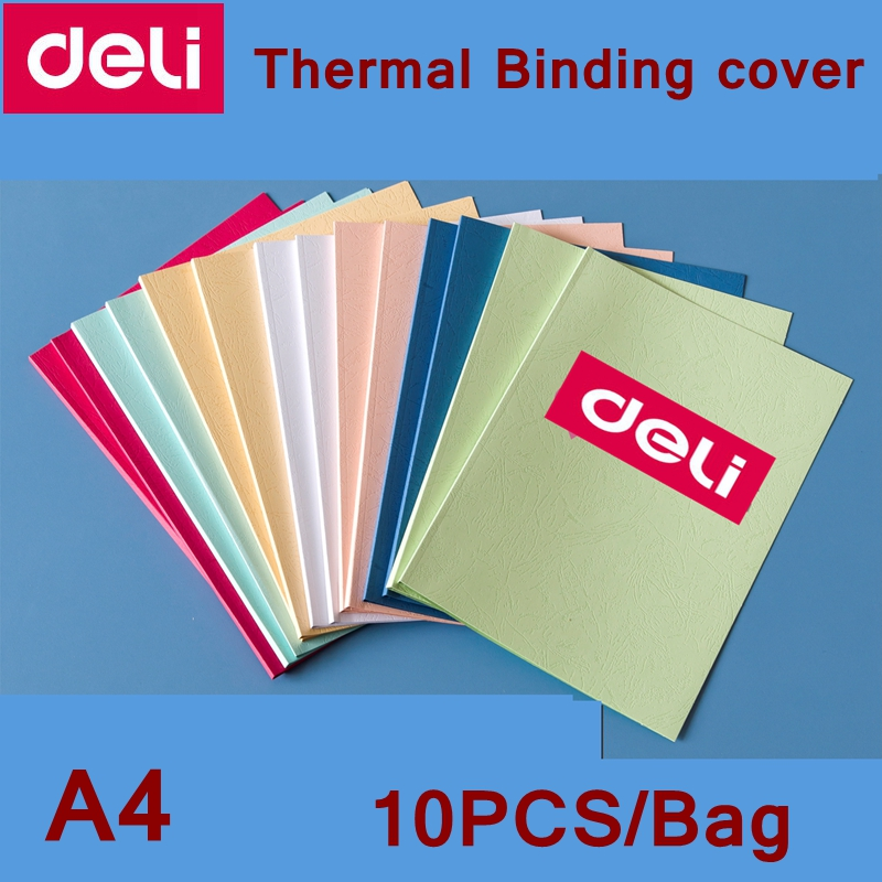 10PCS/LOT Deli Colored Thermal Binding Cover A4 Glue