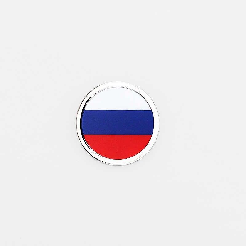 Untuk Rusia Bendera 3D Bulat Lambang Mobil Eksterior Stiker untuk Toyota Corolla Honda Civic Kia Optima K5 Lada Opel astra H Volvo