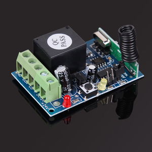 Image 2 - ホット433 mhz dc12v 1 controle remotoチャンネル学習コードワイヤレスリモートコントロールリレーモードuzaktan kumanda