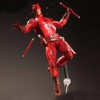 MCR HOT DC Mezco Marvel Super Hero Daredevil 1:12 Action Figure Toys For children