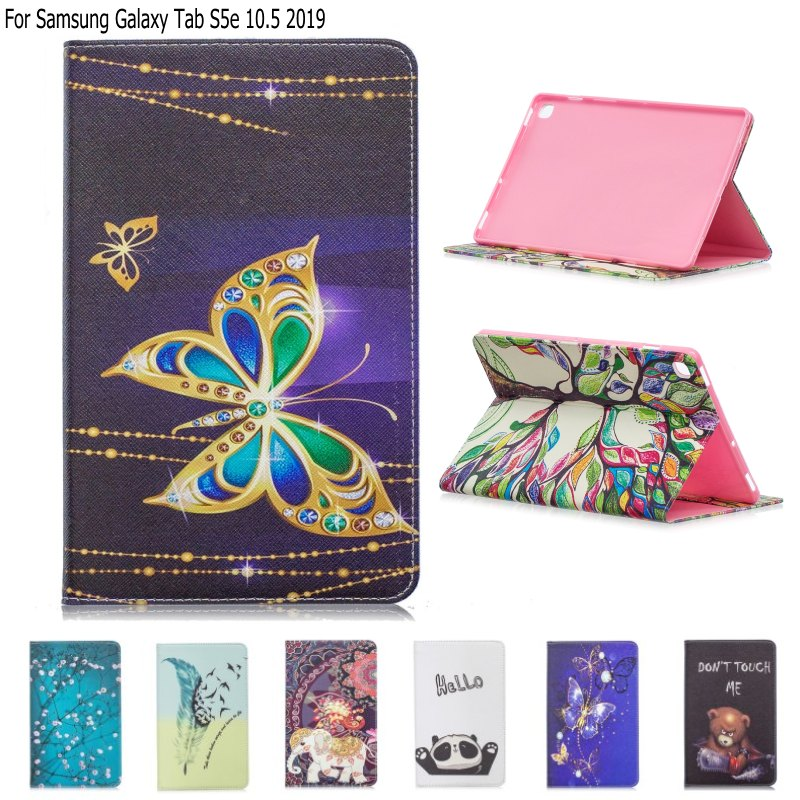 <font><b>Case</b></font> For Samsung Galaxy Tab S5e 10.5 <font><b>T720</b></font> T725 <font><b>Case</b></font> Leather Wallet Stand Smart Cover for Samsung Galaxy TabS5E SM-<font><b>T720</b></font> T725 2019 image