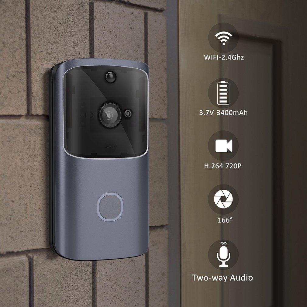 WIFI sonnette vidéo sonnette 720 P IP sécurité interphone sans fil caméra détection de mouvement alarme Audio parler étanche carte SD