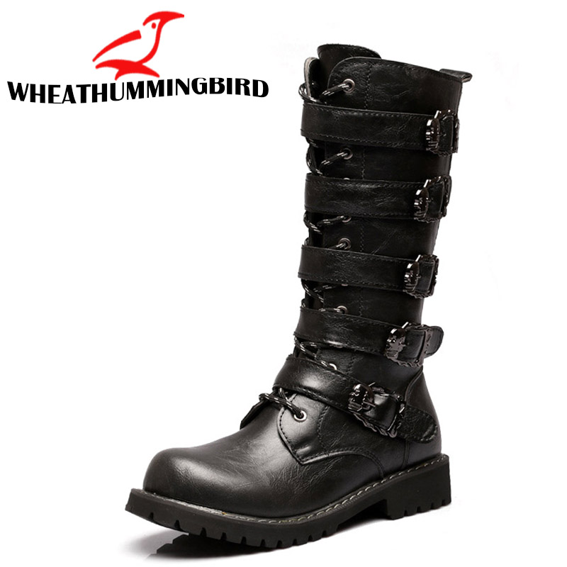 New spring/autumn fashion Men's Martin boots male High shoes casual rubber rain snow Motorcycle army military black boots RA-23 2018 new spring autumn fashion martin boots male high top casual canvas motorcycle boots flats lace up ankle army boots qa 05
