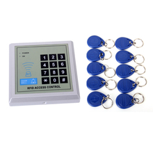 Classical Appearance Useful Function RFID Door Lock Access Control System Safety Machine With 10 Keyfobs obo hands rfid access control system kit set with power supply electric door lock exit button 5 keyfobs for metal and glass door