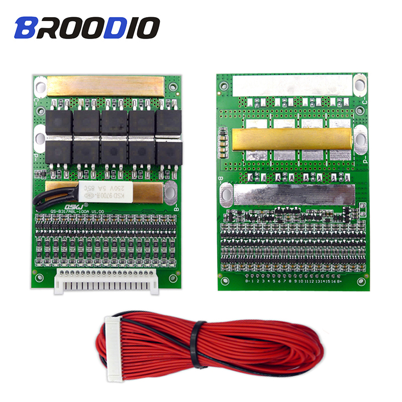 6S TO 17S 50A 3.2V 3.7V BMS 18650 Ternary polymer lithium battery Board 10S 13S 16S Lifepo4 BMS Lipo Balancing Protection Board image