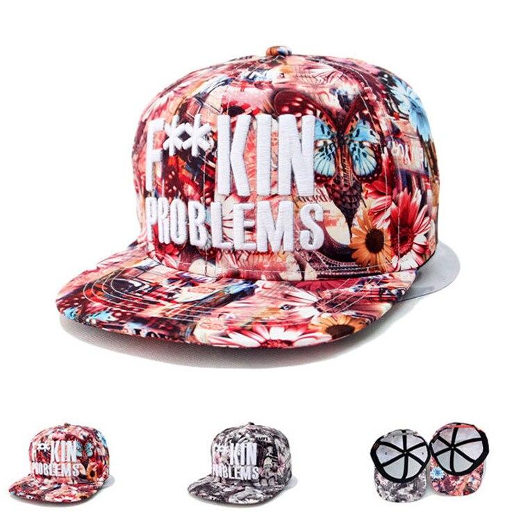 Prix pour 2016 mode couleur casquettes de Baseball réglable Snapback Casquette os fleur Hip Hop pour les femmes Sombreros chapeaux ventiler confort