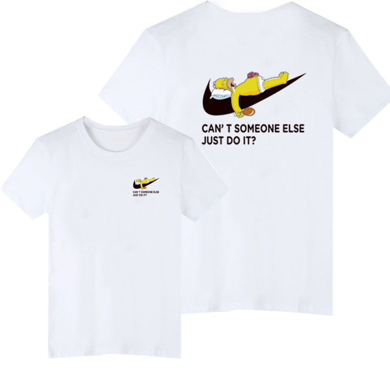 just do it Mens Letter Printing T-shirt Black & White T-Shirts Comics Con Cosplay summer Skateboard Skate Boy Tee T-shirts Tops