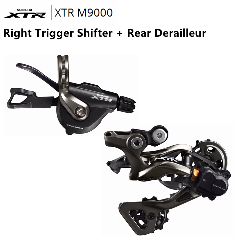 SHIMANO XTR M9000 11-SPEED BLACK BICYCLE RAPID FIRE RIGHT SHIFTER