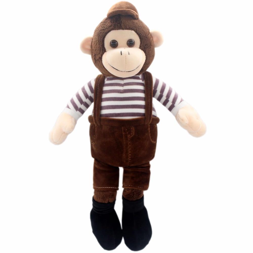 JESONN Fyllda Djur Monkey Plush Mjuka Leksaker För Barns Gåvor, 40 CM