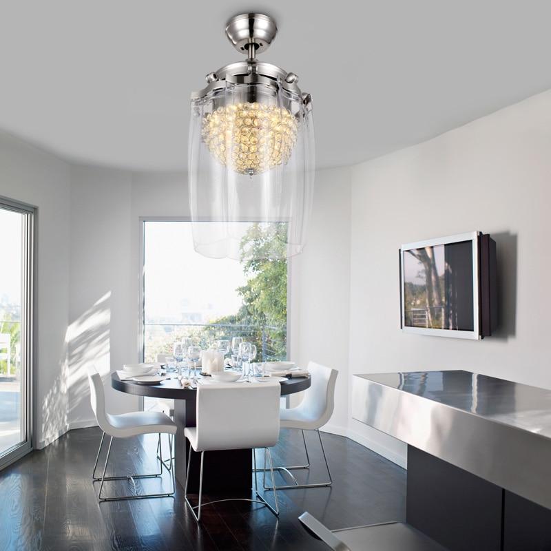High Quality Ceiling Fan Room Radiator Fan Lighting Remote: High Quality Folding Ceiling Fans Led Modern Living Room