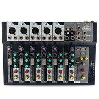 Leory 48V 7 Channel Professional Karaoke Stage Live Studio Audio Mixer Amplifier USB Mixing Console DJ KTV Show
