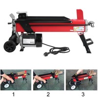 2200W High Power Electric Hydraulic Wood Log Timber Cutter Labor Saving Floor Wood Splitter Chopping Machine for Garden Tool