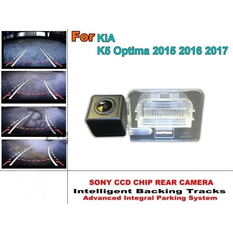 For KIA K5 Optima 2015 2016 2017 Intelligent Parking Tracks Reverse Backup Camera HD Back up