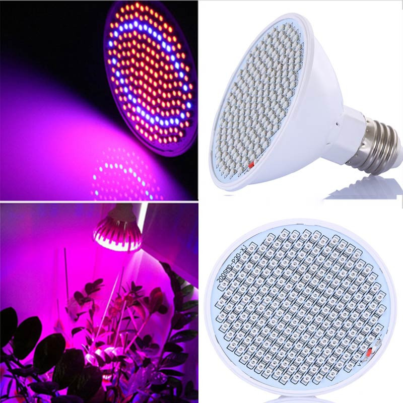 20W LED Grow Lights Bulb E27 LED Plant Lamp 166 Red 34 Blue for Garden Greenhouse Hydroponics Plant Seedling Growing AC85-260V