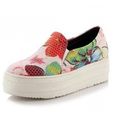 Large size 31-43Fashion women's flat heel leopard print shoes round toe flat bottom shoes women's lofer shoes Free shipping