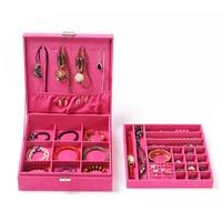 Velvet Jewelry Case Pattern Rectangular Drawer Jewelry Storage Square Trinket Box