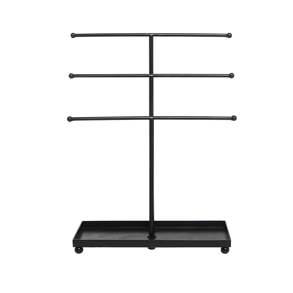 Hanger 3 Tier Ring Tower Decorative Bracelet Organizer Tray Iron Display Stand Pendant Art Necklace Holder Storage Racks Earring
