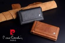 2016 Marque Nouvelle Pierre Cardin Véritable En Cuir Suspendus style Ceinture Sac Cas Pour LG G5 Livraison Gratuite