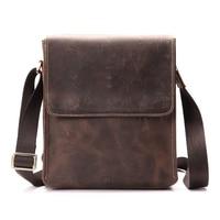 Hight Quality Crazy Horse Genuine Leather Bag Mens Shoulder Bags Messenger Casual Men S Crossbody Bags