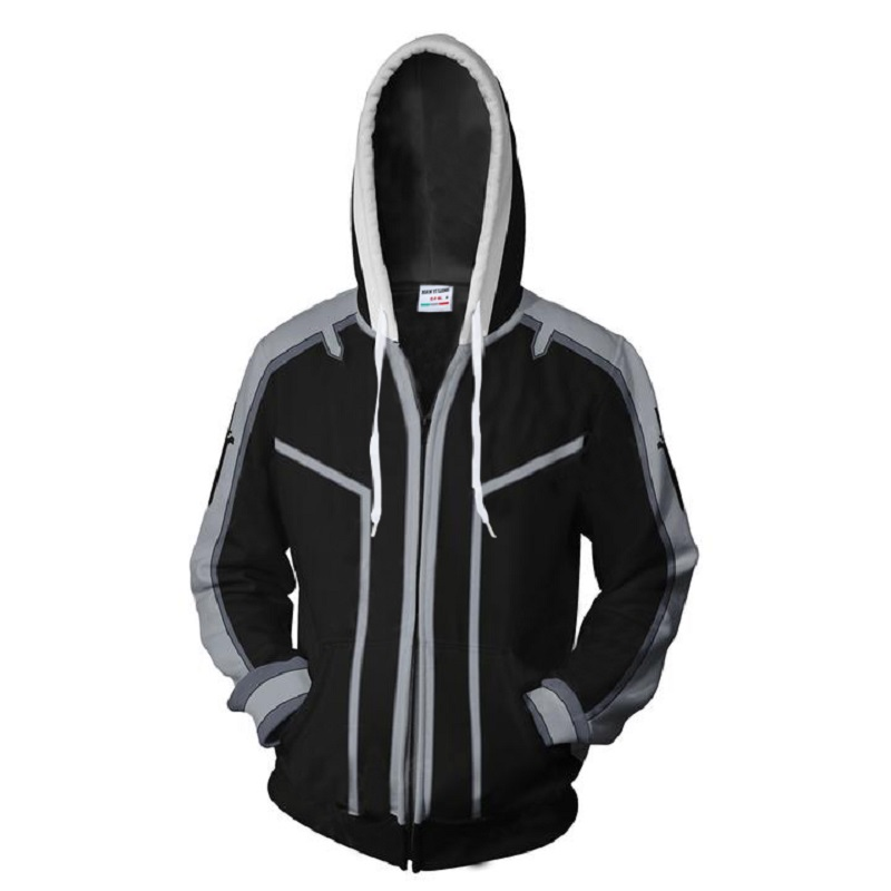 2018 New Fashion men women Cool sweatshirt Hoodies Men 3D print Naruto Dark Black Loose Streetwear Long sleeve clothing xxs-4xl