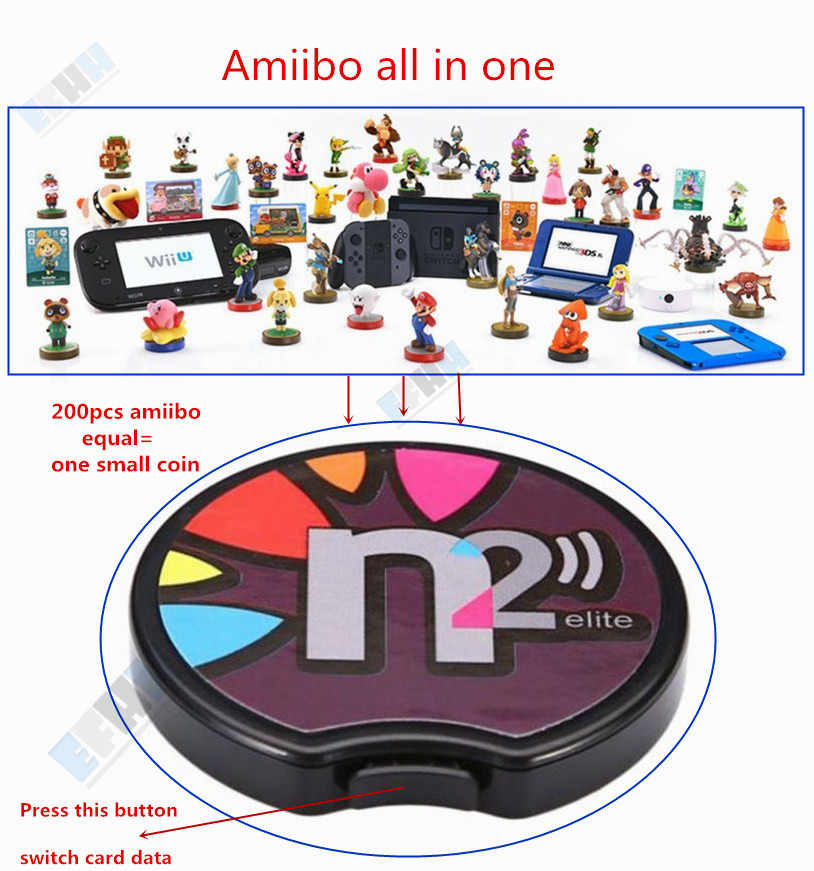 N2 Elite Emulator NFC Reader All in 1 Ntag215 For AMIIBO NEW 3DS XL/Switch NS Game NFC Card Coin Zelda Super Mario super smash