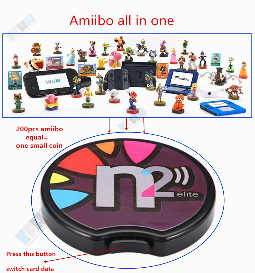 N2 Elite Emulator <font><b>NFC</b></font> Reader All in 1 Ntag215 For <font><b>AMIIBO</b></font> NEW 3DS XL/<font><b>Switch</b></font> NS Game <font><b>NFC</b></font> <font><b>Card</b></font> Coin Zelda Super Mario super smash image
