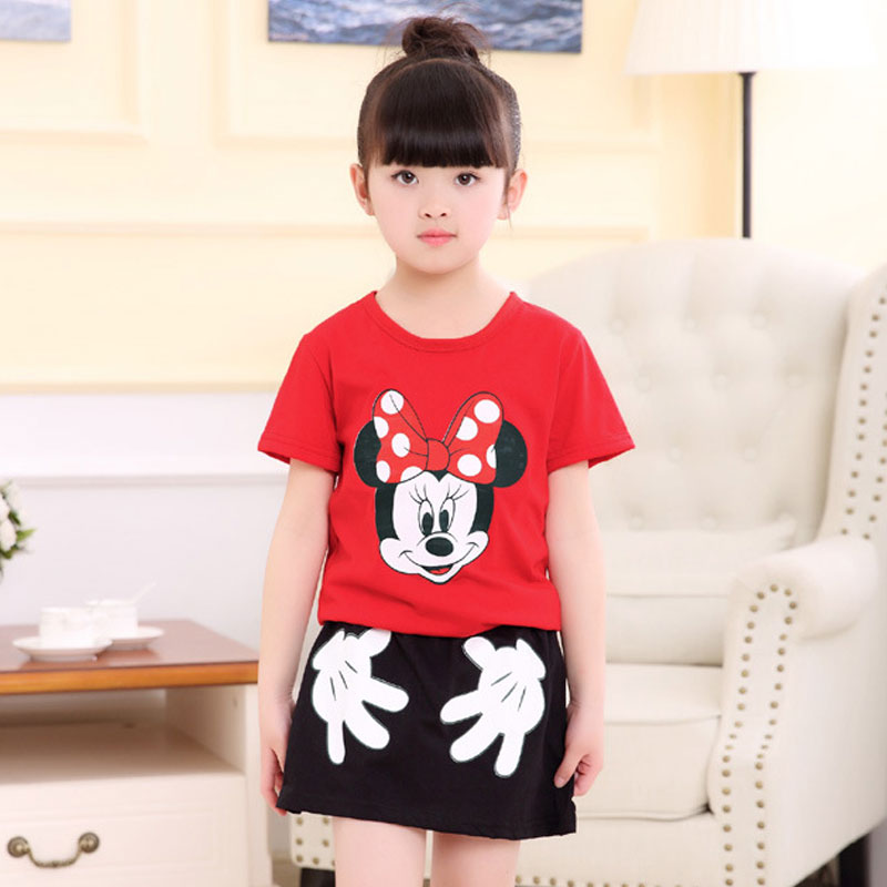 Children Clothing Summer Cartoon Mickey Mouse Princess Big Girls Clothes  Suits Kids Tops T-shirt - Popular Skirts Pencil Kids-Buy Cheap Skirts Pencil Kids Lots From