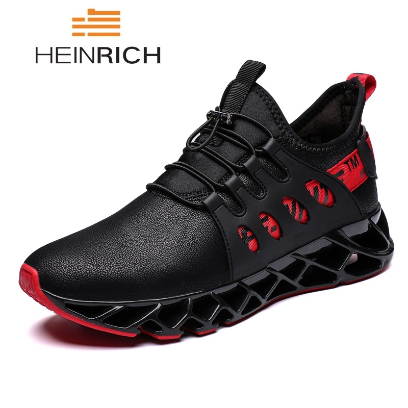 HEINRICH New Arrivals Men Shoes Leather Designer Sneakers Lightweight Men Trainers Breathable Men's Casual Shoes Sapatos Homens
