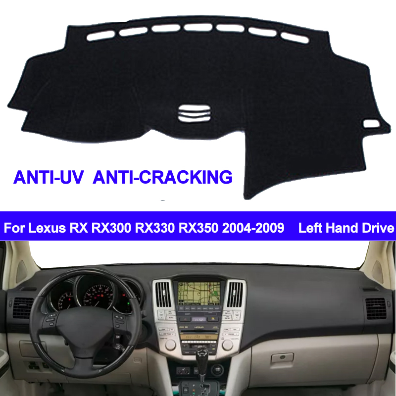 TAIJS Dashboard-Cover Carpet Dash-Mat Sun-Shade Non-Slip RX330 Lexus Rx 2009 2004-2006