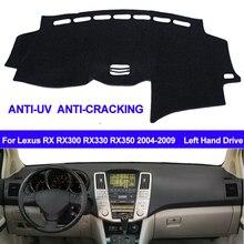 TAIJS cubierta para salpicadero de coche alfombrilla antideslizante para Lexus RX RX300 RX330 RX350 2004 2006 2007 2008 2009, tipo almohadilla de parasol, alfombra Anti UV